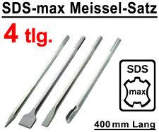 SDS-max Meißel Set 4-tlg. 400 mm Flachmeißel Spitzmeißel Breitmeißel Kanalmeißel