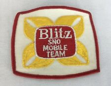 Blitz Sno Mobile Team Snowmobile Patch 3.5 x 4 Portland OR Henry Weinhard Beer