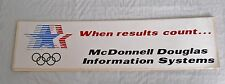 "Vintage 1984 L.A. Summer Olympic Games decal: ""WHEN RESULTS COUNT"" * M.D.I.S. *"