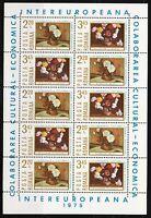 Romania 1975 MNH Sc 2545-2546 Mi 3258-3259 Peonies & Chrysanthemums KLB **