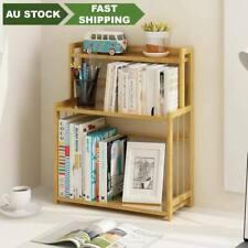 Bamboo Book Shelves Kitchen Storage Multi Use Desk Book Shelf Simple Handy桌面书架