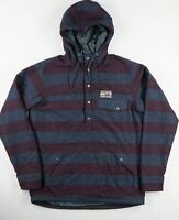 RAREST Patagonia Reclaimed Wool Snap T Pullover Insulated Jacket Striped Ms M