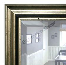 Custom Lumna Silver Beveled Wall Mirror, Mantle & Bathroom Mirror Art Decor