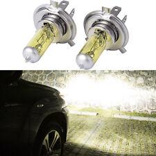 2pcs Car Pure Yellow H4 60/55W 12V P43T Headlight Fog Bulbs Halogen Lights 3000K
