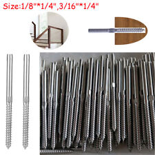 """T316 Lag Screw Stud Hand Swage Railing for 1/8"""" 3/16"""" Cable  Stainless Steel"""