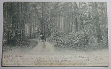 1915 Photo Postcard Of The Road To Rutland Massachusetts Sent To Cushing