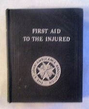 WW11 St Johns Ambulance First Aid H/B Book STAMPED CHIEF CONSTABLES OFFICE 1939
