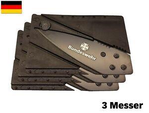 ★ DE Bundeswehr Marine Luftwaffe Kreditkartenmesser Taschenmesser Klappmesser  ★