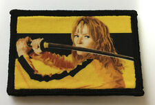 Kill Bill Movie Morale Patch Tactical Military Army USA Flag Hook Badge