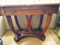 Enamel Top Wood Library Table Mid-Century Modern Vintage - PICK-UP ONLY