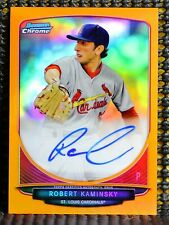 ROBERT KAMINSKY - 2013 BOWMAN CHROME DRAFT PICK AUTOGRAPH ORANGE REFRACTOR #/25