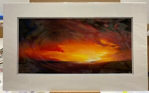Richard Rowan - Smouldering Skies (mounted)  In Stock