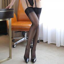 Medias clásicos negros para liguero sexy glamour pinup retro
