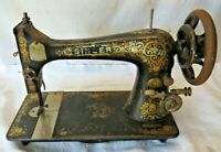 "1904 RARE SINGER SEWING MACHINE HEAD MODEL 27 ""GINGERBREAD "" B176130"