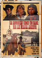 manifesto 2F originale LO AMMAZZO' COME UN CANE MA LUI RIDEVA ANCORA 1971