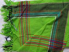 Kikoy / Kikoi - Kenyan Sarong / Scarf / Wrap -NEW - GREEN