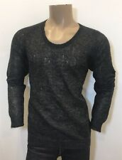 "NEIL BARRETT Grey Mohair & Wool Lightweight ""Pulled Look"" Jumper L RRP: £195.00"