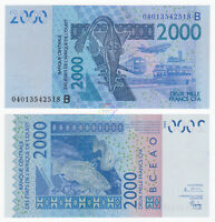 WEST AFRICAN STATES BENIN 2,000 2000 Francs 2003 (2004) P-216B UNC Uncirculated