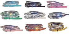"Women Rhinestone Bejeweled Crystal Bling Glittering Skinny Belt SM ML 3/8"""