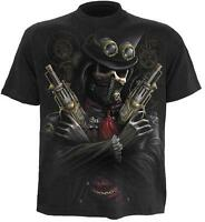 SPIRAL DIRECT - STEAM PUNK BANDIT T SHIRT - GOTH SKULL BIKER