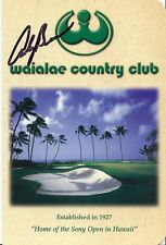 Andy Bean Signed Waialae Country Club Hawaii Scorecard