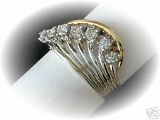 Brillante señora anillo 0,39ct bicolor oro valor 1490,- EUR
