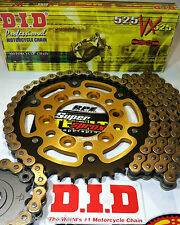 ZX9R NINJA '98-03 SUPERSPROX GOLD DID 525 QUICK ACCEL CHAIN AND SPROCKETS KIT