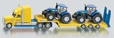 Siku Truck with 2 New Holland Tractors 1:87 Scale SI1805 Farming