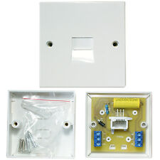 100 PACK -BT Master Single Telephone Socket-Screw Terminals-Line Wall Plate 2/4A
