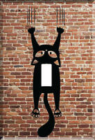 Black Cat Light Switch Plate Wall Cover Pet Decor Stretch