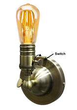 Retro Vintage Brass Wall Light Socket E27 Sconce Lamp Fixture with Switch M0015W