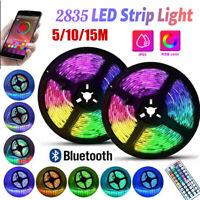 LED RGB Strip Lights Waterproof DIY Lamp 5/10/15M USB Bluetooth Remote Control