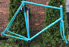 Vintage 80's Teal Miyata Road Bike Frame 63cm ( TT 57cm ) Steel TALL Frame Forks