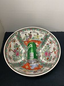 Large antique Chinese famille rose porcelain bowl