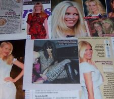 Claudia Schiffer 57 pc German Clippings Collection