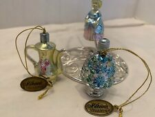 Katherine's Collection Victorian Lady    Ornaments Silver Euc Tags Lot 3 Teapot