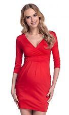 Happy Mama. Women's Maternity Jersey Tulip Dress Easy Breastfeeding S-4XL. 236p
