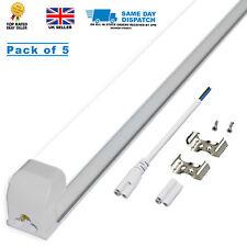 5 X 2 en uno 1200mm (4ft) 20W T8 Tubo LED integrado, blanco puro 6000k, 1900Lm