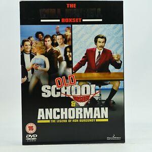 WILL FERREL OLD SCHOOL UNSEEN ANCHORMAN - THE LEGEND OF RON DVD Box Set R2 GC