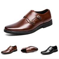 Business Men's Dress Formal Leather Shoes Pumps Slip on Non-slip Flats Casual Sz