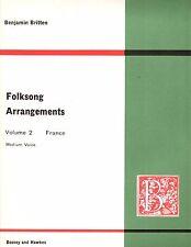 Benjamin Britten Folksong Arrangements Volume 2 France medium voice piano French