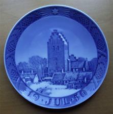 Royal Copenhagen early 1950 Christmas Plate~Boeslunde Church~Pristine-Nr