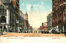 Postcard 16th Street North of Farnam, Omaha, Nebraska - used 1909