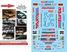 DECALS 1/43 REF 0011 PEUGEOT 505 LAURENT RALLYE MONTE CARLO 1981 RALLY WRC