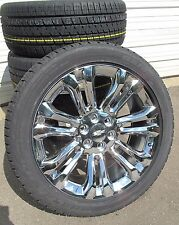 "22"" New Chevrolet Tahoe Silverado Suburban Chrome Rims 2854522 Tires 5666 C"