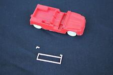 Jouet de bazar voiture plastique 1 MEHARI Noreda Injecta plastic rouge rose
