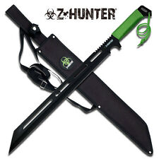 Sharpened Zombie Hunter Survival Green Cord Wrapped Machete Knife #065
