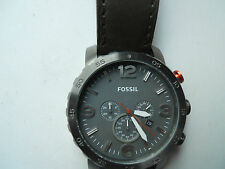 Fossil chronograph men's leather band.quartz,Analog & battery watch.CH-2875