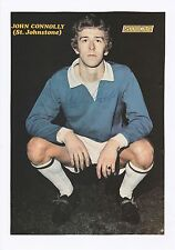 JOHN CONNOLLY ST JOHNSTONE 1967-1972 ORIGINAL SIGNED MAGAZINE PICTURE CUTTING