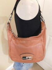 Coach Kristin Brown/Camel Leather Hobo Shoulder Bag 19293